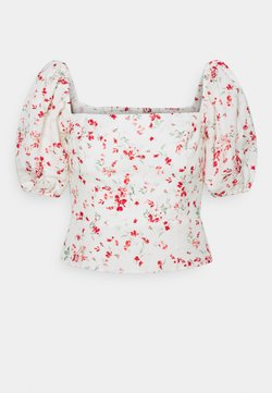 Forever New - LINDA SQUARE NECK PUFF SLEEVE TOP - Bluse - savannah