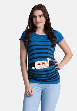 M.M.C. - MIT MOTIV WINKE WINKE - T-Shirt print - dunkelblau