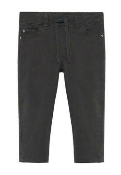 Mango - KATOENEN BROEK MET KOORD - Jeans Slim Fit - antraciet