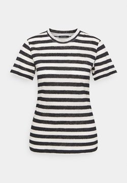 Marc O'Polo - SHORT SLEEVE ROUND NECK SLIM FIT STRIPED - T-Shirt print - mutli/dark atlantic