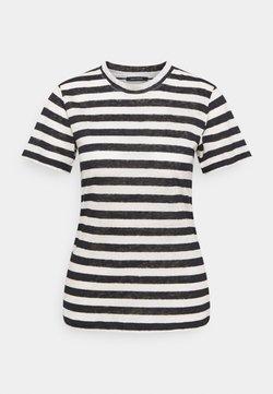 Marc O'Polo - SHORT SLEEVE ROUND NECK SLIM FIT STRIPED - T-Shirt print - mutli/dark atlantic