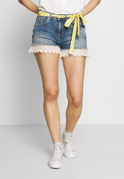 Superdry - LACE HOT SHORT - Jeansshort - summer house blue