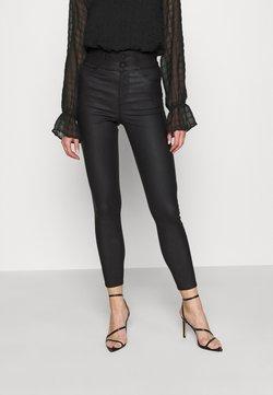 New Look - COATED HIGHWAIST - Broek - black