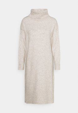 New Look Petite - ROLL NECK DRESS - Robe pull - oatmeal