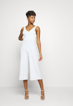 Missguided - PLUNGE WIDE LEG  - Combinaison - white