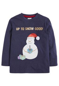 Next - CHRISTMAS SNOWMAN  - Longsleeve - dark blue