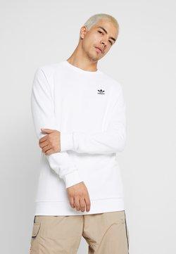 adidas Originals - TREFOIL ESSENTIALS LONG SLEEVE PULLOVER - Sweatshirt - white/black