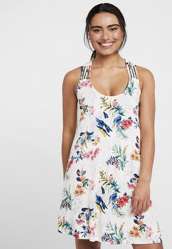 s.Oliver - HOLLY_BEACHDRESS - Vestido ligero - white print