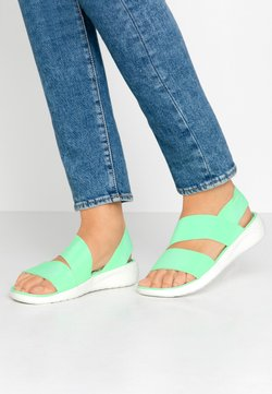 Crocs - LITERIDE STRETCH  - Chaussons - neo mint/almost white