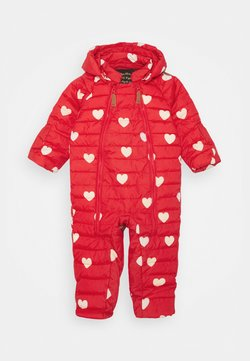 Mini Rodini - HEARTS BABY OVERALL - Skipak - red
