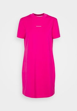 Calvin Klein Jeans - MICRO BRANDING DRESS - Vestido ligero - party pink