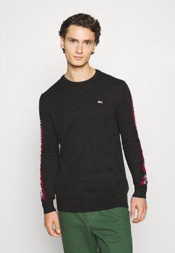 Tommy Jeans - SLEEVE TAPE SWEATER - Sweatshirt - black