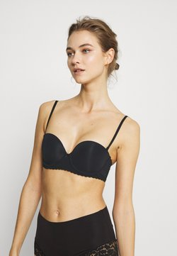 aerie - REAL HAPPY STRAPLESS  - Push-up BH - true black