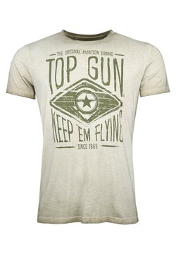 TOP GUN - GROWL - T-shirt print - olive