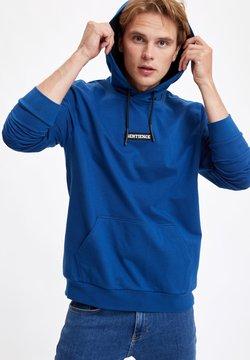 DeFacto - Bluza z kapturem - blue