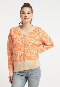 myMo - Strickpullover - beige orange