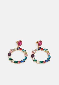 Pieces - PCMOLLYA EARRINGS  - Earrings - gold colour/pink-multi