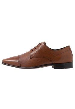 Burton Menswear London - BANKS EMBOSSED DERBY - Business-Schnürer - tan