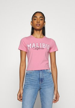 Hollister Co. - VINTAGE BABY TEE - T-Shirt print - neon pink