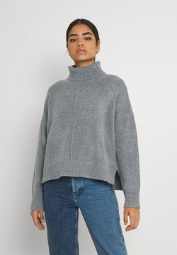 Noisy May - NMIAN ROLL NECK  - Strickpullover - mottled grey