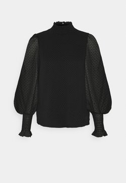 Vero Moda - VMBARLETTA HIGH NECK - Camicetta - black
