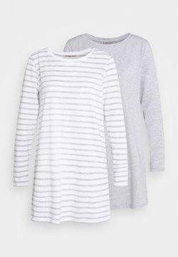 Anna Field - 2 PACK - Nachtwäsche Shirt - light grey