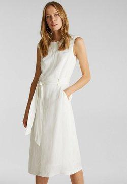 Esprit Collection - MIT BINDEGÜRTEL - Korte jurk - off white
