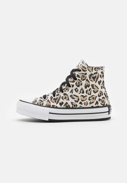 Converse - CHUCK TAYLOR ALL STAR LIFT UNISEX - Sneakers high - driftwood/black/white