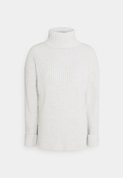 NA-KD - TURTLENECK SIDE SLIT SWEATER - Strickpullover - grey