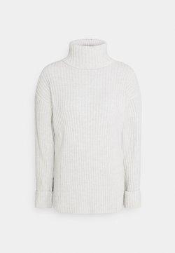 NA-KD - TURTLENECK SIDE SLIT SWEATER - Stickad tröja - grey