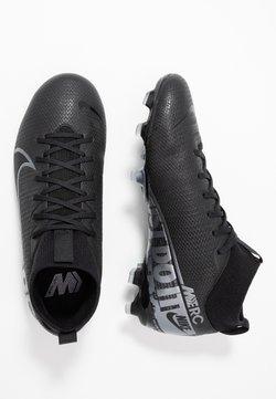 Nike Performance - MERCURIAL JR 7 ACADEMY FG/MG UNISEX - Scarpe da calcetto con tacchetti - black/metallic cool grey/cool grey