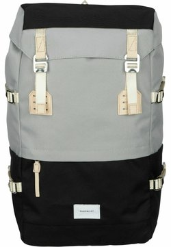 Sandqvist - HARALD - Tagesrucksack - multi grey/black/natural leather