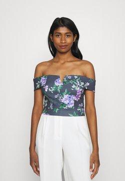 WAL G. - LANCE FLORAL CROP - T-Shirt print - purple