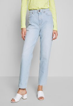 Marc O'Polo - TROUSER MOMS FIT HIGH WAIST CROPPED LENGTH - Jeans baggy - light blue shade denim