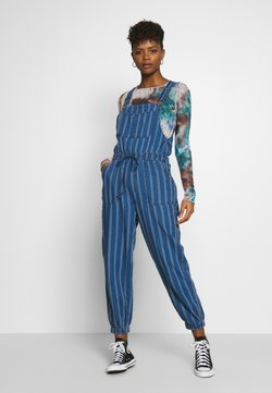 American Eagle - OVERALL SCARY STRIPE - Tuinbroek - blue