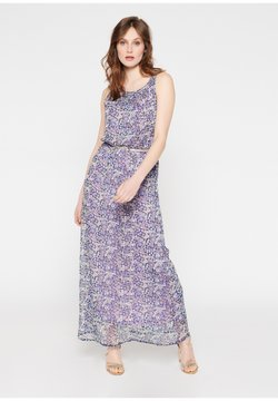 LolaLiza - WITH FLOWERS AND BELT - Maxikleid - purple