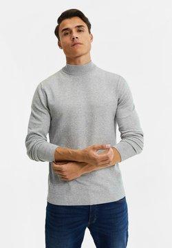 WE Fashion - MET OPSTAANDE BOORD - Strickpullover - blended light grey