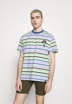 Vintage Supply - RETRO STRIPE TEE - T-shirt con stampa - blue