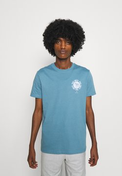 PS Paul Smith - EXCLUSIVE ZEBRA - T-Shirt print - teal