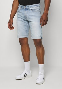 Tommy Jeans - RONNIERELAXED - Jeansshort - light-blue denim