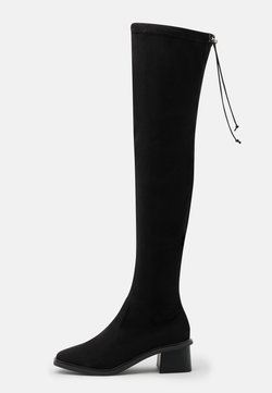 Topshop - TOMORROW OVER THE KNEE BOOT - Over-the-knee boots - black