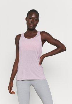 Nike Performance - YOGA LAYER TANK - Camiseta de deporte - plum fog/venice
