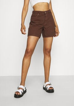 Monki - EMMA  - Szorty jeansowe - brown dark/unique brown