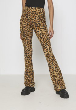 Colourful Rebel - LEOPARD FLARE BISCUIT - Legging - brown