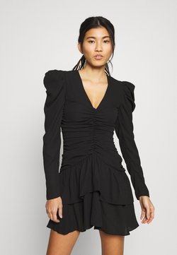 Who What Wear - THE RUCHED MINI DRESS - Cocktail dress / Party dress - black