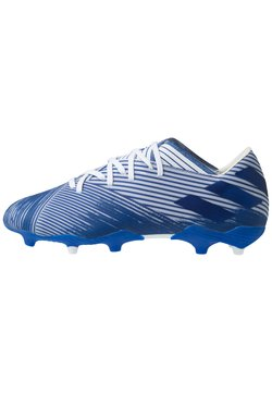 adidas Performance - NEMEZIZ 19.2 FG - Moulded stud football boots - footwear white/royal blue