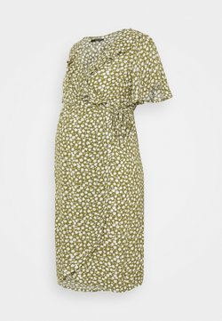 Supermom - DRESS NURS FLOWER - Freizeitkleid - olive drap
