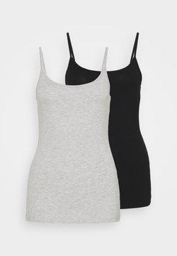 Anna Field - 2 PACK - Débardeur - black/mottled light grey