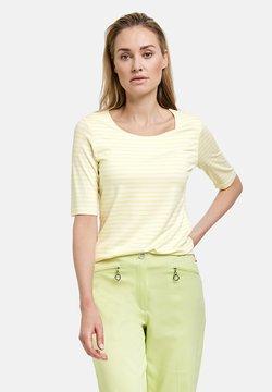 Gerry Weber - 1/2 ARM GERINGELTES - T-Shirt print - ecru/weiss/gelb ringel