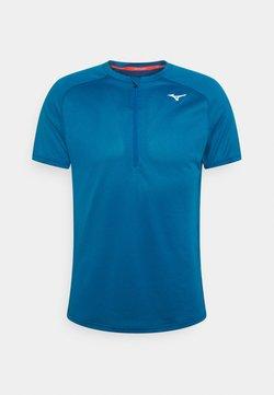 Mizuno - ER TRAIL TEE - Camiseta estampada - mykonos blue
